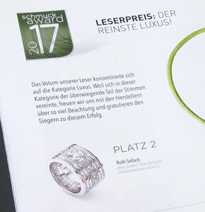 Schmuckaward 2017 – Ruth Sellack belegt bei Leservotum 2. Platz