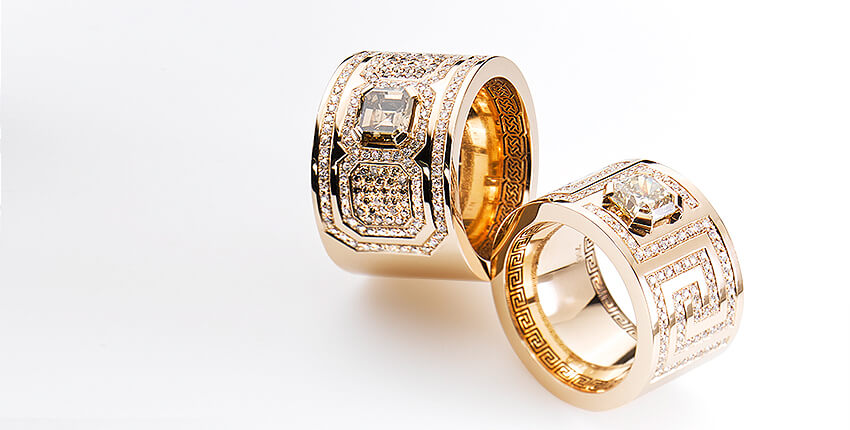 Ringkollektion »twentyfive« edle Goldringe mit Brillanten und Diamanten