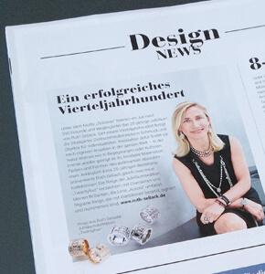 Die Goldschmiedezeitung berichtet in ihren Design News über 25 Jahre Ruht Sellack Schmuckobjekte in Stuttgart