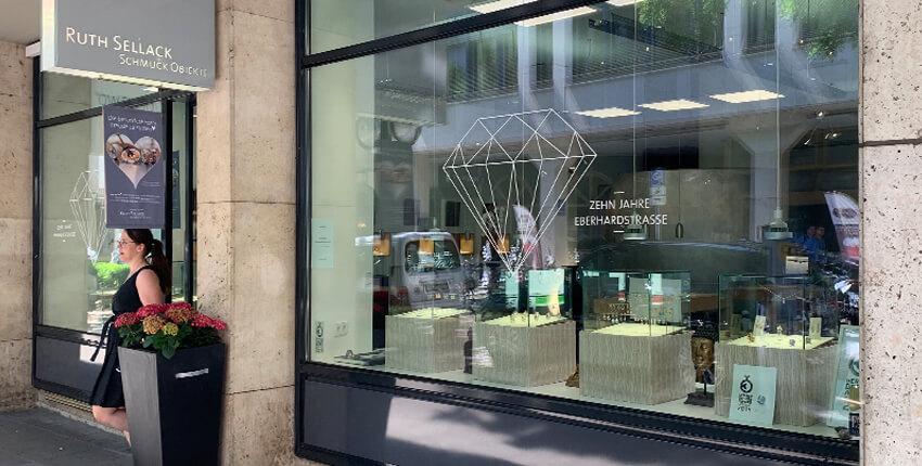 10 Jahre Ruth Sellack Schmuckobjekte in der Eberhardstraße