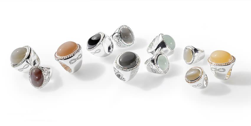 Caramella-Ringkollektion von Ruth Sellack Schmuckbjekte