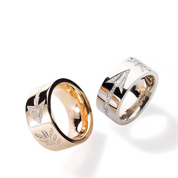 Destination Goldringe mit Diamanten, Schicksalssringe, Trauringe und Eheringe