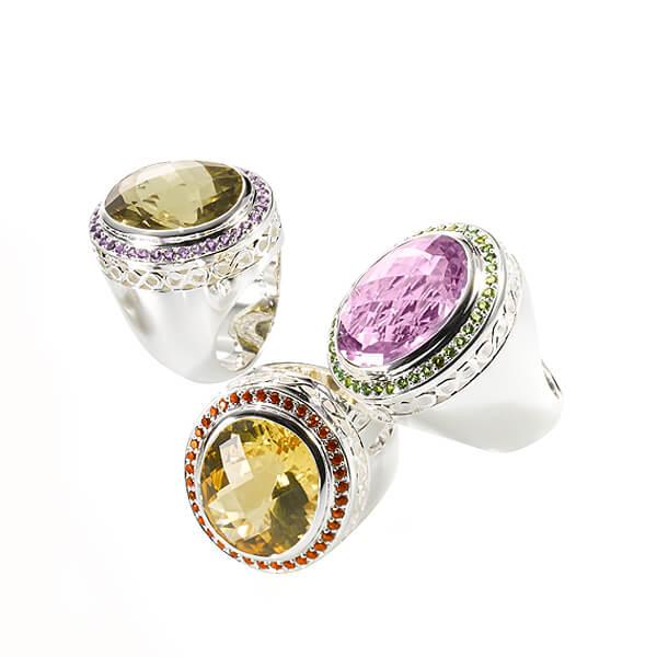 Dolce Vita Ringe mit Farbedelsteinen in vielen Farben