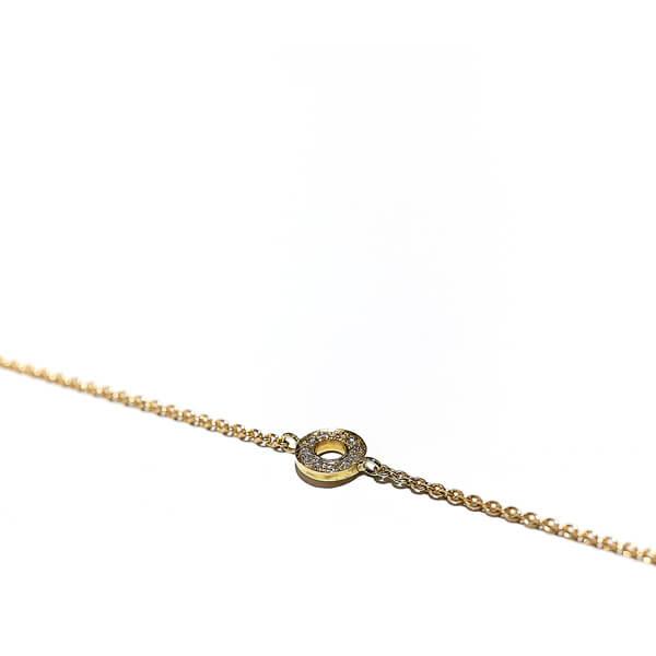 Armband Hippy ring XS, 750/- Roségold mit Diamanten, gold bracelet with diamonds