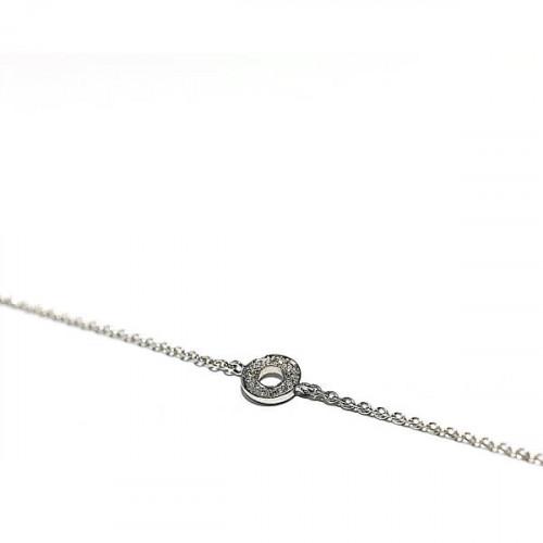 Armband Hippy ring XS, 750/- Weißgold mit Diamanten, gold bracelet with diamonds