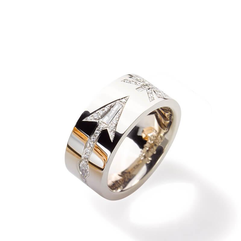 Destination Ring Weißgold mit Diamanten