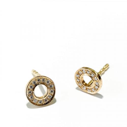 Hippy Ring XS Ohrstecker Rosegold mit 32 Brillanten