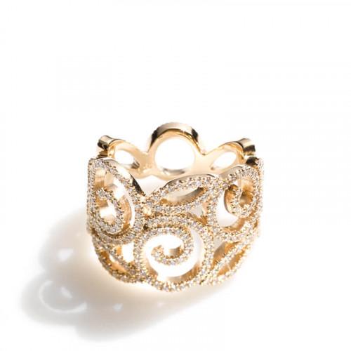 Villandry Ring Roségold mit Brillanten, Design Ruth Sellack Schmuck Objekte